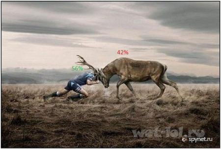 Против оленя