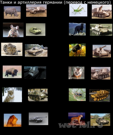 Танки и артиллерия Германии