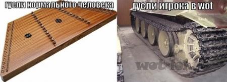 Гусли игрока WoT