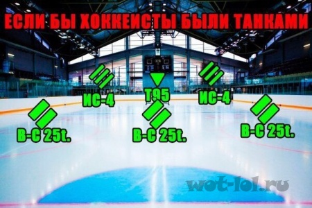 Если бы хоккеисты были танками