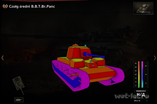 Czołg średni B.B.T.Br.Panc (Польша, СТ-4, барабан, прем)