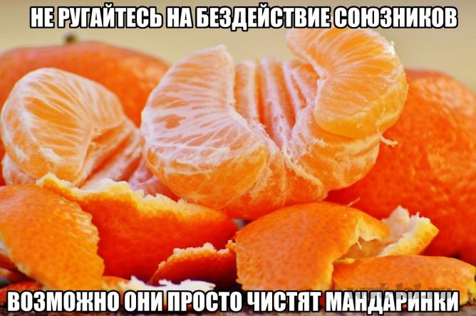 Просто чистят мандаринки